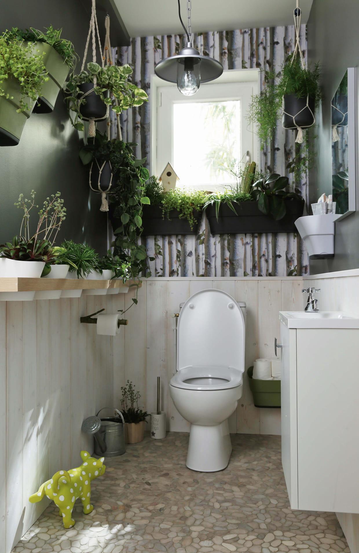 Idee Papier Peint Wc nos idées pour aménager le coin toilettes
