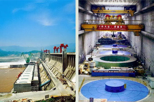 La centrale électrique du barrage des Trois Gorges