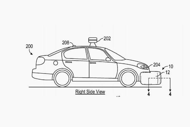 La voiture qui déploie des airbags externes