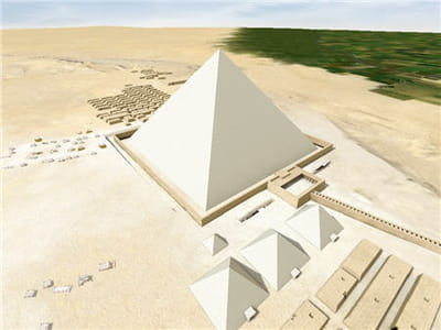 la pyramide de khéops est l'un des plus grands édifices construits par l'homme.
