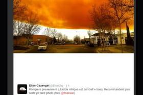 """Espagne : les images impressionnantes du nuage """"toxique"""" près de Barcelone"""