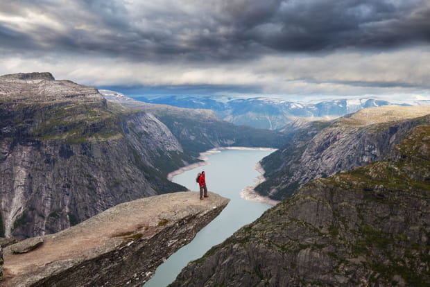 La falaise de Trolltunga en Norvège