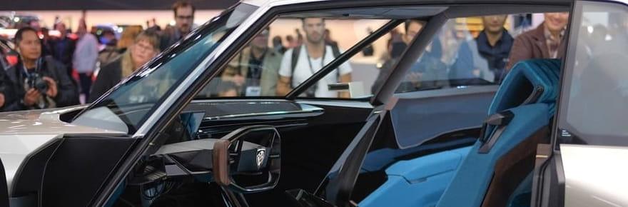A bord du Peugeot e-Legend Concept