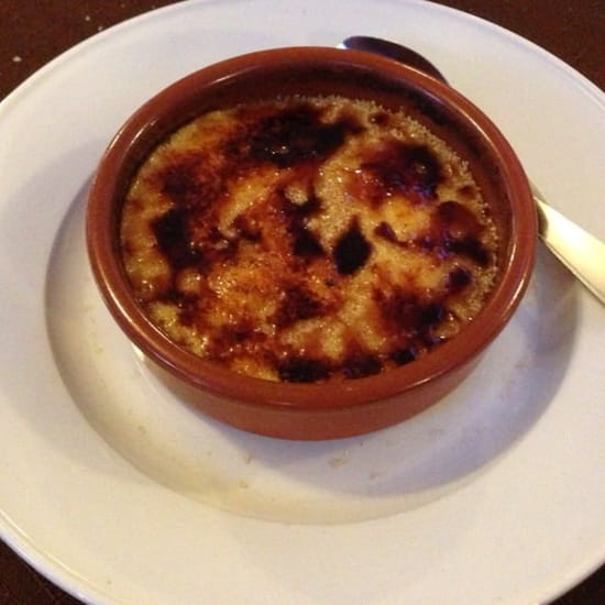Dessert : Restaurant des Voyageurs  - Dessert menu à 15€ crème catalane -
