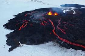 Vidéo. Islande : l'éruption du volcan Fagradalsfjall sous la neige