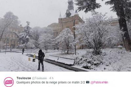 Toulouse: la ville rose envahie par la neige, nombreuses pertubations [photos]