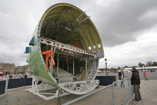 Morceau de fuselage de l'A300