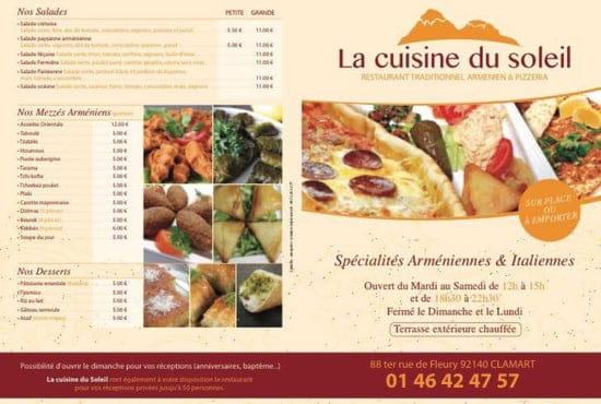 Restaurant : La Cuisine du Soleil