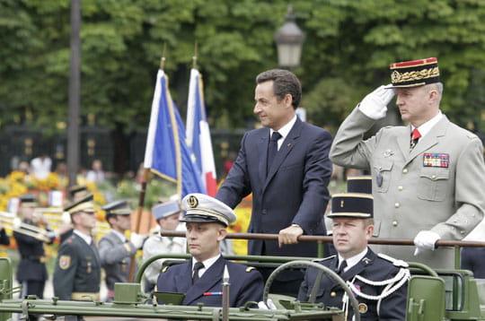 Premier défilé militaire pour Sarkozy