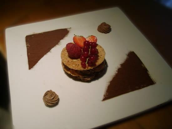 Restaurant de l'Ire les Grillades de Lilie  - millefeuille choco caramel -